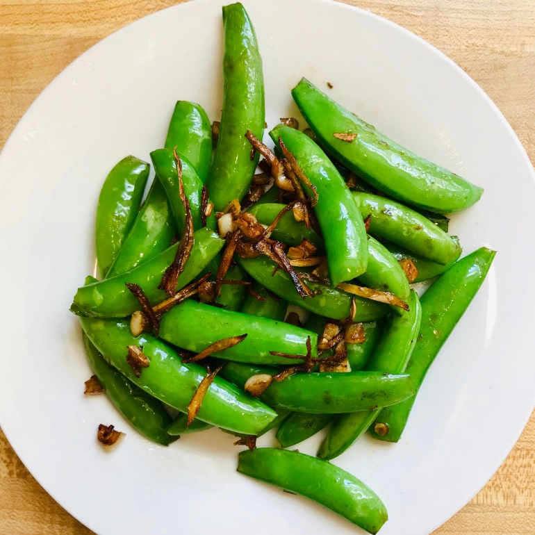 garlic ginger snap peas