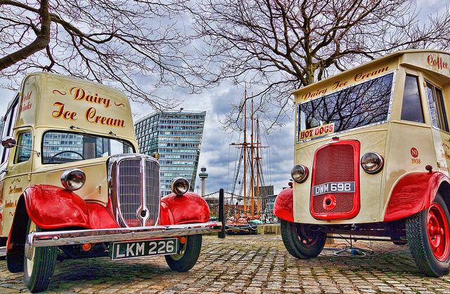 Ice cream vans by Beverley Goodwin