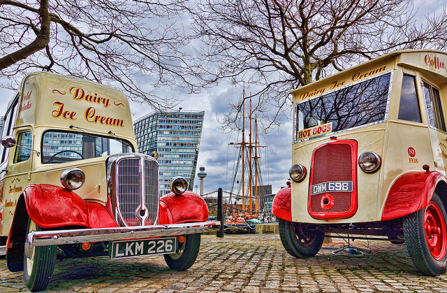 Ice cream vans by Beverley Goodwin