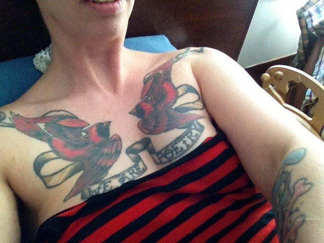 My chest tattoo by Marie