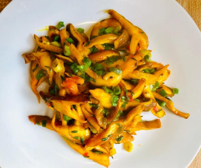 saffron shiitake mushrooms