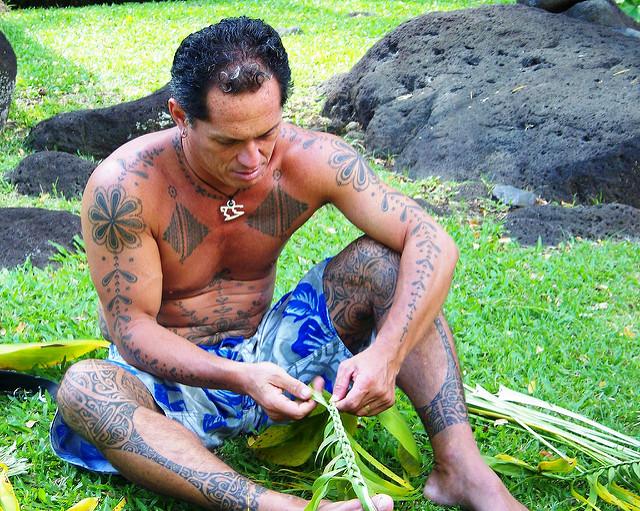 tahitian preparing for heiva by Tyler Corder
