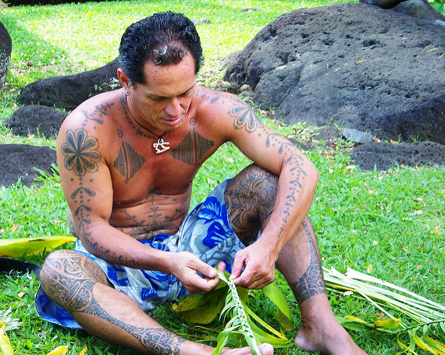 tahitian preparing for heiva by Tyler Corder