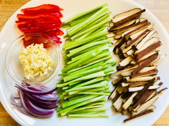 beancurd celery stir fry prep 2