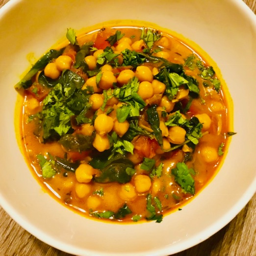 chickpea spinach curry2