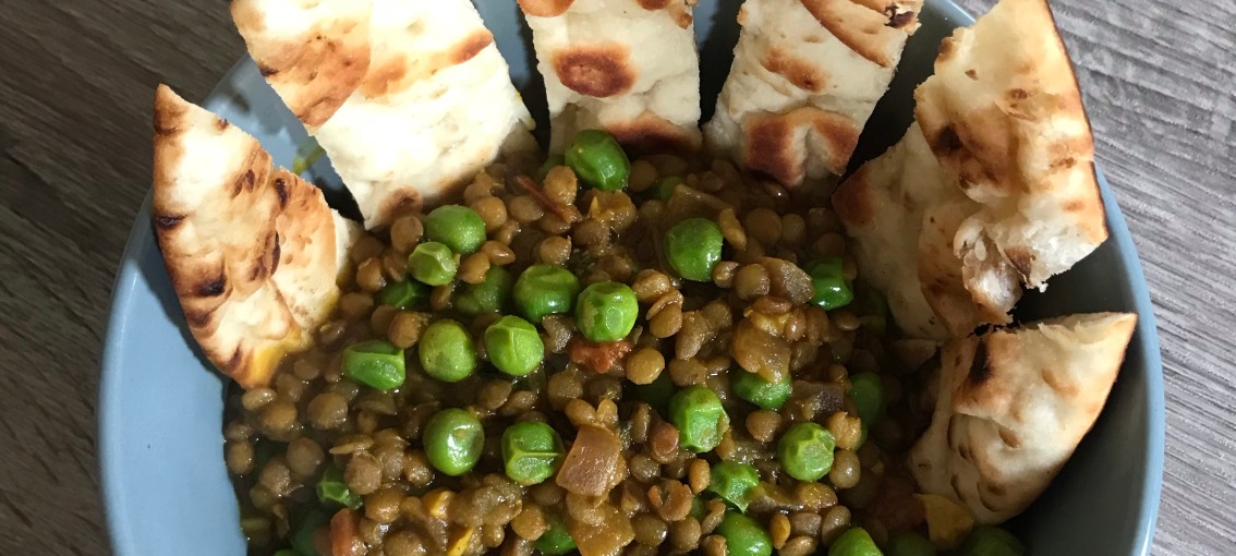 Peas And Lentil Curry Bowl Recipe