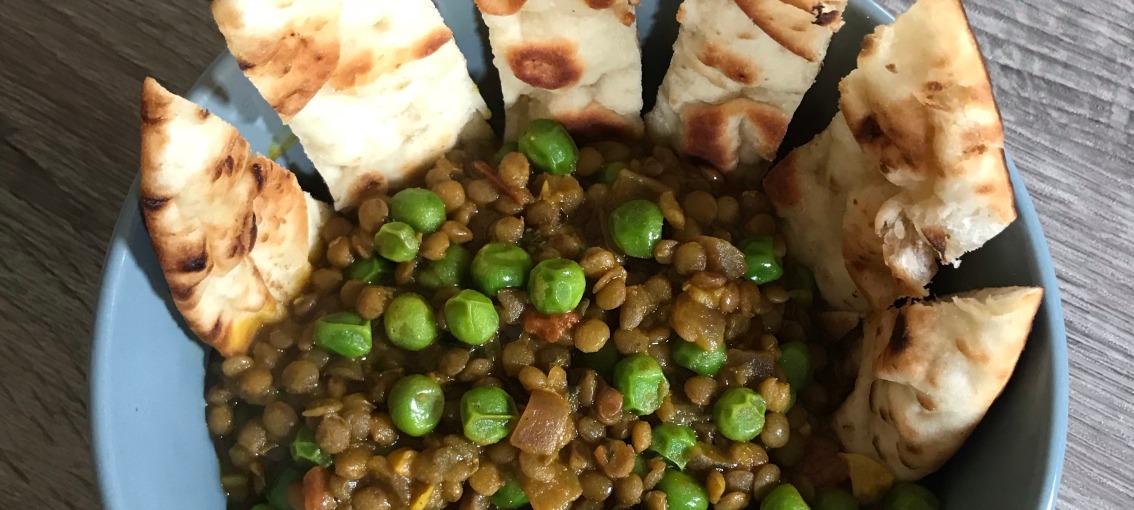 Peas And Lentil Curry BowlRecipe