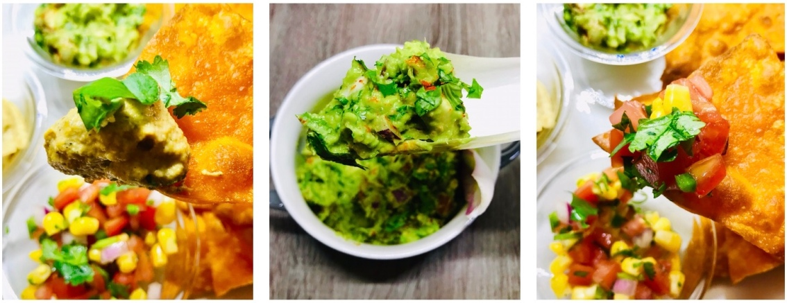 Chips And Dips Recipe – Guacamole, Corn Pico De Gallo, & Chili Cashew Cheese